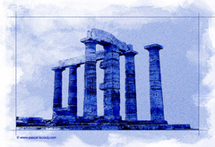 CALEPINAGE CAP SOUNION II - cyanotype - by Pascal