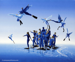 CIEUX DES ANGES-GRENOUILLES - Angel-frogmen's heaven - by Pascal