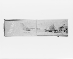 Cloud Study; Lake [Maggiore?] and Village (from Sketchbook)