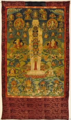 Cosmic Man with Diagrams of Newar Yogic Six Chakra Transformation