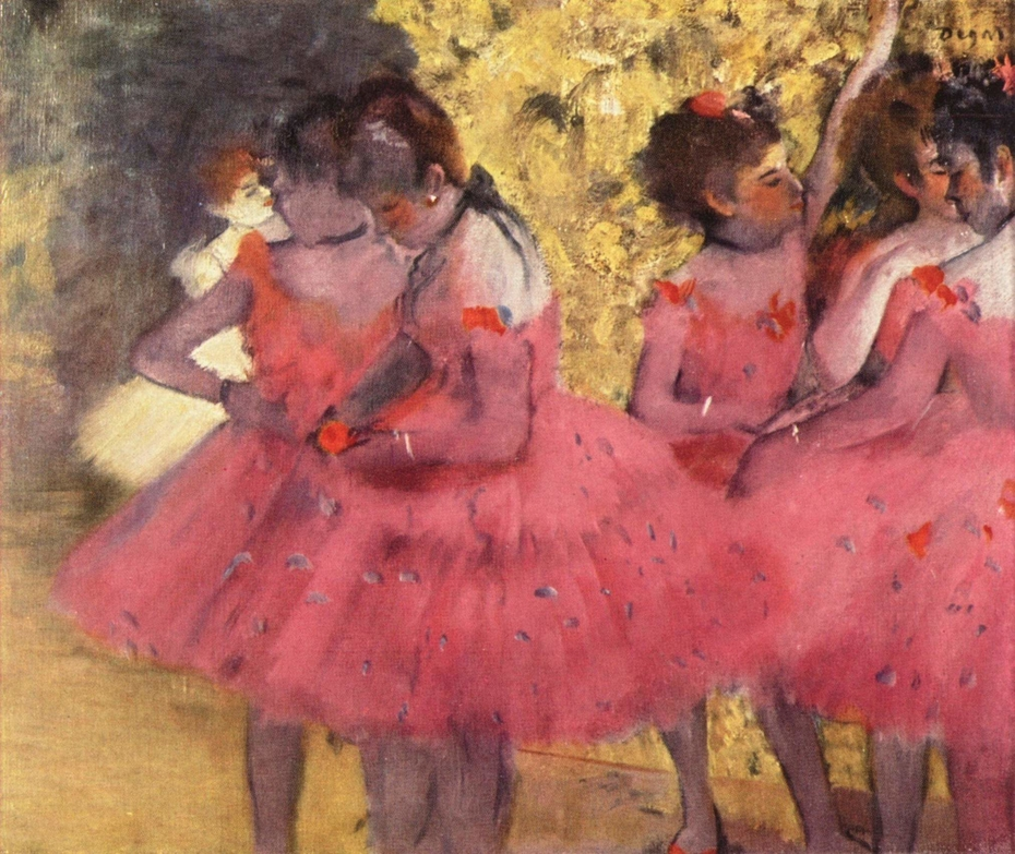 Dancers in Red Skirts