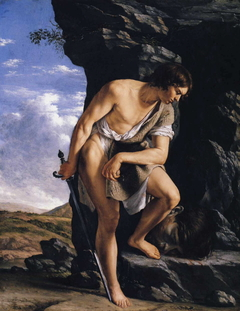 David Contemplating the Head of Goliath