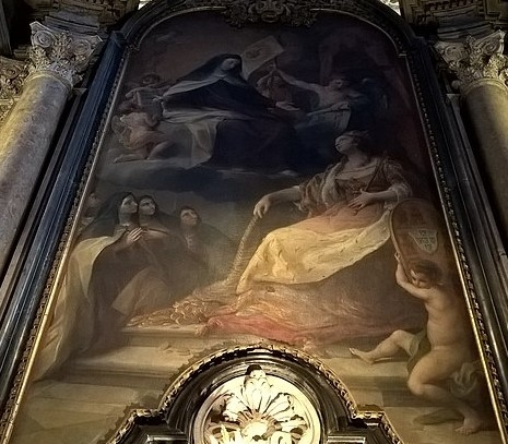 Dedication of the Basilica to St. Teresa by D. Maria I