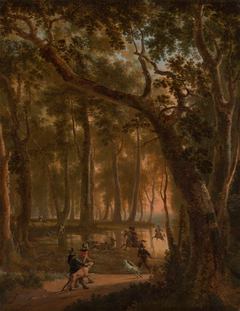 Deer Hunt in a Forest