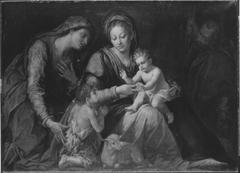 Die Heilige Familie mit der hl. Elisabeth und dem Johannesknaben