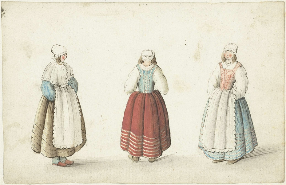 Drie staande vrouwen