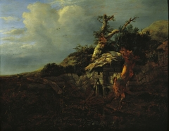 Dune Landscape with Thatched Cottage