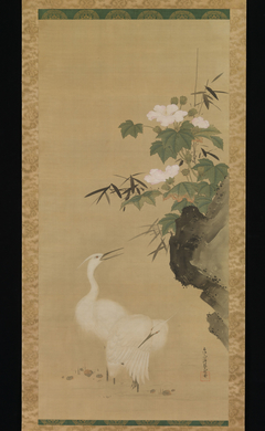 Egrets and Cotton Roses