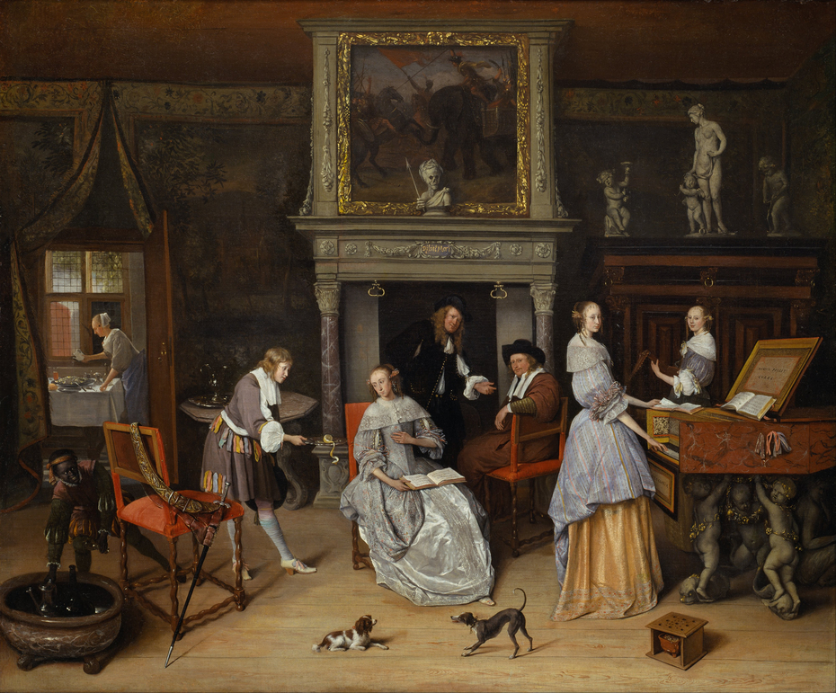 Fantasy Interior with Jan Steen and the Family of Gerrit Schouten