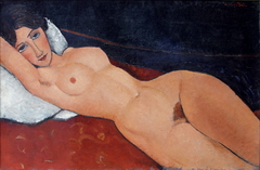 Female Nude Reclining on a Pillow