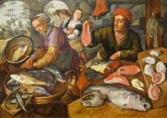 Fish market by Joachim Beuckelaer (Strasbourg version)