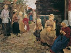 Fisher children in Zandvoort