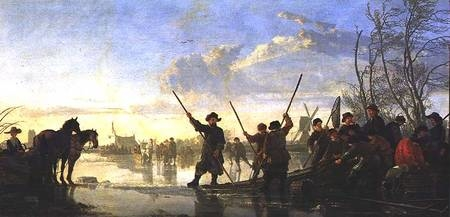 Fishing under the Ice near Dordrecht