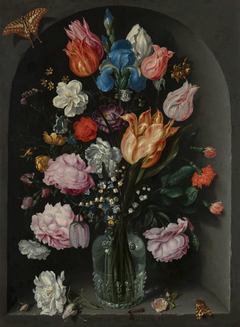 Flowers in a Glass Flask