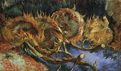 Four Withered Sunflowers