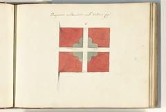 Frans vaandel veroverd bij de slag bij Ramillies, 1706