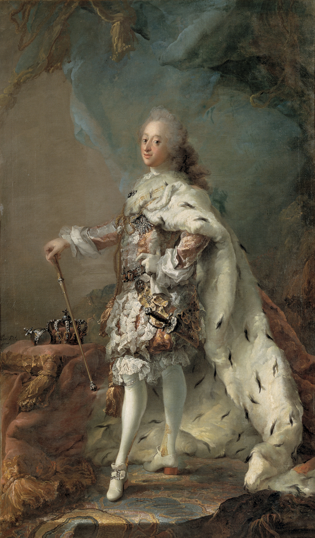 Frederik V in his Anointing Robes