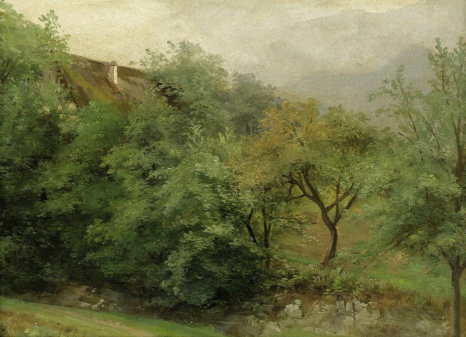 Garden House between Trees