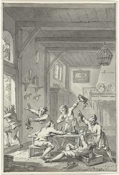 Gevechten met Orangisten te Voorburg, 1787
