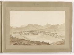 Gezicht op Stellenbosch; Drakenberg; Simonsberg; Kaap de Goede Hoop