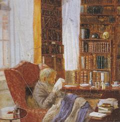 Henrik Nikolaj Krøyer in his study.