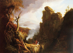 Indian Sacrifice, Kaaterskill Falls and North-South Lake