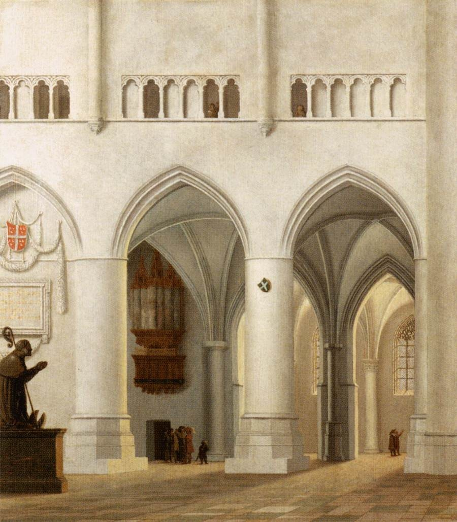 Inside St Bavo Church in Haarlem