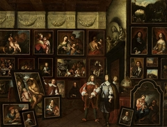 Interior of a gallery of paintings of the Libštejnský of Kolovrat family.
