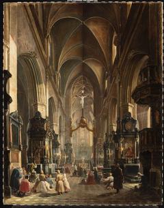 Interior of the Church of Virgin Mary in Kraków