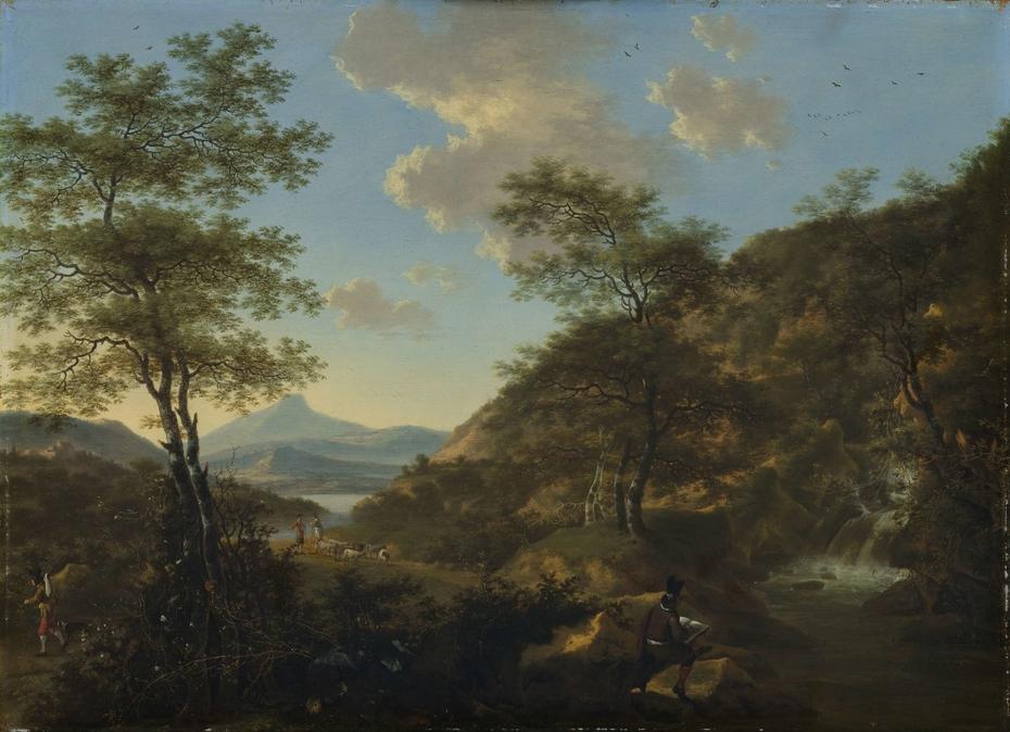 Italian Landscape with Draftsman