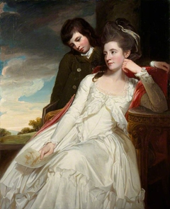 Jane Maxwell, Duchess of Gordon, c 1749 - 1812. Wife of the 4th Duke of Gordon (With her son, George Duncan, 1770 - 1836. Marquess of Huntly, later 5th Duke of Gordon. General)