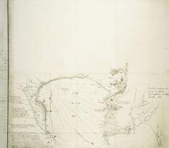 Kaart van Valsbaai en het Kaapse schiereiland