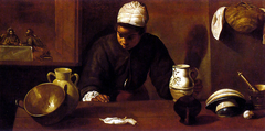 Kitchen Maid with the Supper at Emmaus