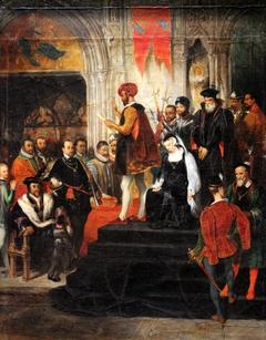 La Lecture de la sentence de Marie Stuart by Eugène Devéria