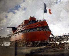 Lancement du cuirassé Hoche à Lorient en 1886