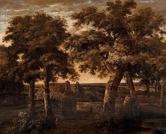 Landscape with a cottage surrounded by trees