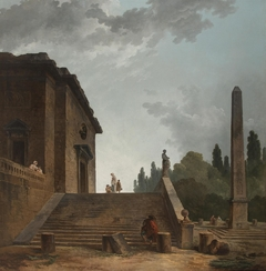 Landscape with a Stairs and Obelisk