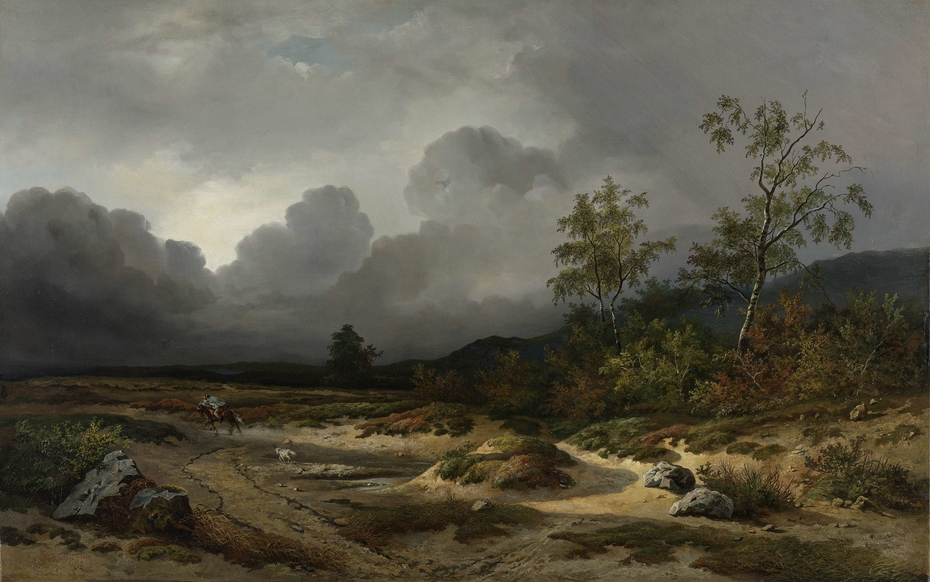 Landscape with a Thunderstorm Brewing