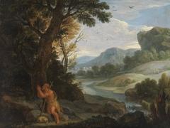 Landschaft mit dem hl. Johanes dem Täufer