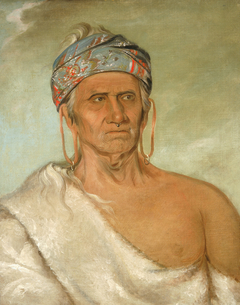 Lay-láw-she-kaw, Goes Up the River, an Aged Chief