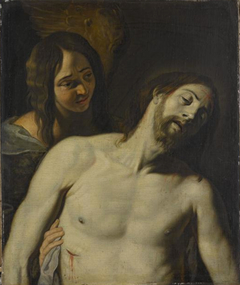 Le Christ mort soutenu par un ange