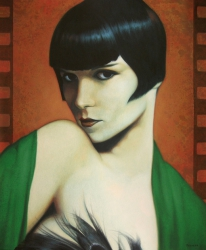 Louise Brooks in colors
