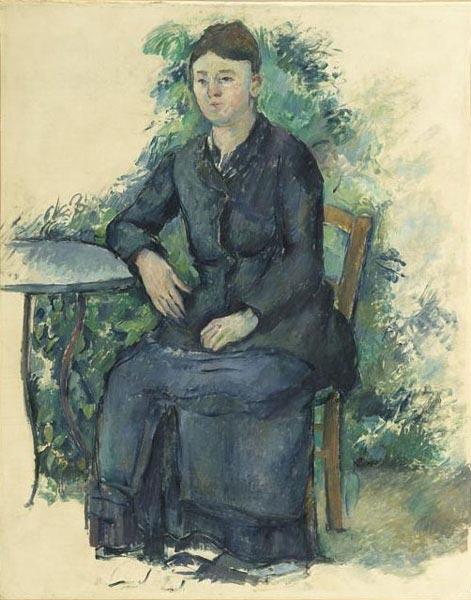 Madame Cézanne in the Garden