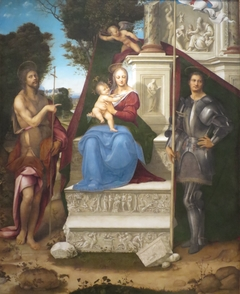 Madonna and Child with Saint John the Baptist and Saint George