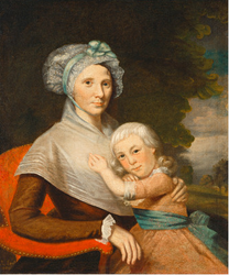 Martha Tennent Rogers (Mrs. David Rogers) and Her Son, probably Samuel Henry Rogers
