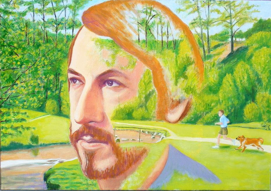 'Memory of Hubbard's Hills', (2012), oil on linen, 100 x 70 cm