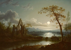 Moonlit Landscape with Gothic Ruin