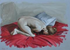 """""""nude"""", 2014, oil on wood, 20x28 cm"""