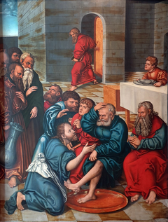 Passion Cycle - Christ washing the feet of the apostles