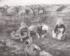 Peasant Woman Weeding, Pontoise